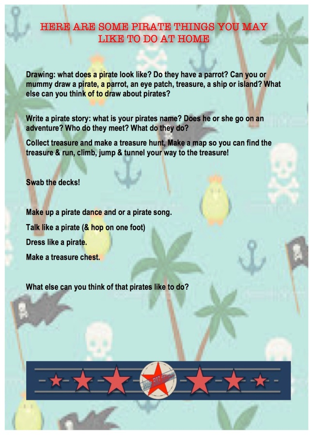 PIRATE MONTH activites pge 2
